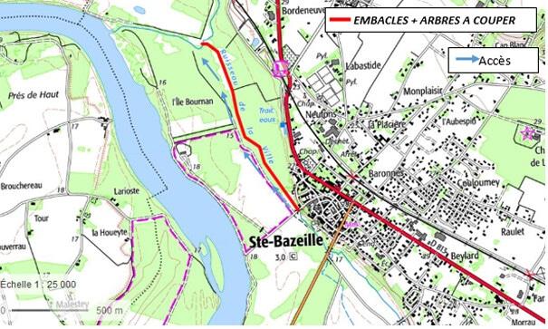Le Ruisseau du Milieu à Sainte Bazeille