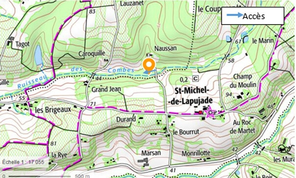 Le Médier à Saint Michel de Lapujade/Fossès-et-Baleyssac